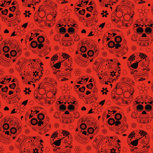 Skulls #4 Patterned Vinyl